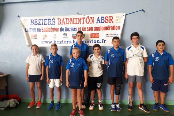 Tournoi Départemental Jeunes à Béziers 8 octobre 2017