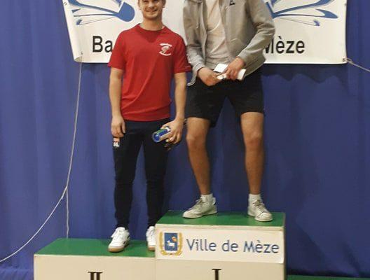 Tournoi de Mèze Nicolas Pace finaliste en simple homme série R4-R5