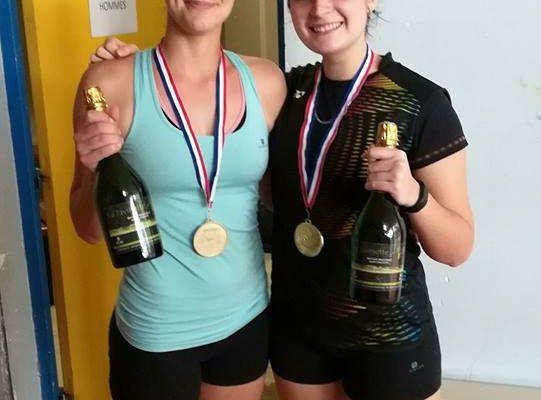Nolwen championne Régionale en double dame série 1 à Millau