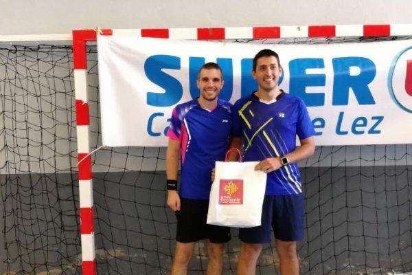 Tournoi départemental à Castelnau: victoire de Florian en double